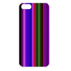 Fun Striped Background Design Pattern Apple iPhone 5 Seamless Case (White)