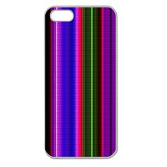 Fun Striped Background Design Pattern Apple Seamless iPhone 5 Case (Clear)
