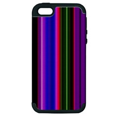 Fun Striped Background Design Pattern Apple Iphone 5 Hardshell Case (pc+silicone)