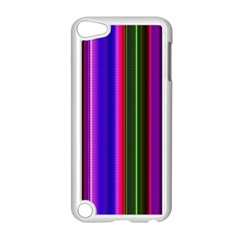 Fun Striped Background Design Pattern Apple iPod Touch 5 Case (White)