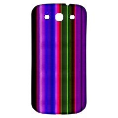 Fun Striped Background Design Pattern Samsung Galaxy S3 S III Classic Hardshell Back Case