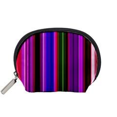 Fun Striped Background Design Pattern Accessory Pouches (Small)