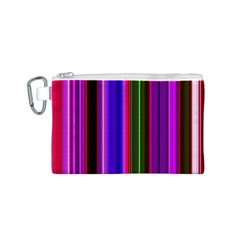 Fun Striped Background Design Pattern Canvas Cosmetic Bag (S)