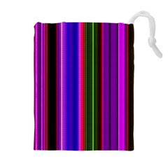 Fun Striped Background Design Pattern Drawstring Pouches (Extra Large)