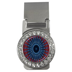 Digital Circle Ornament Computer Graphic Money Clips (cz)
