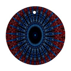 Digital Circle Ornament Computer Graphic Round Ornament (Two Sides)