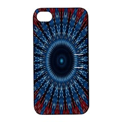 Digital Circle Ornament Computer Graphic Apple Iphone 4/4s Hardshell Case With Stand
