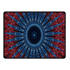 Digital Circle Ornament Computer Graphic Double Sided Fleece Blanket (small)