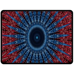 Digital Circle Ornament Computer Graphic Double Sided Fleece Blanket (Large)