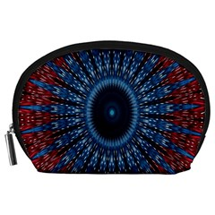 Digital Circle Ornament Computer Graphic Accessory Pouches (Large)