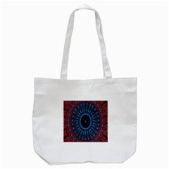 Digital Circle Ornament Computer Graphic Tote Bag (White)