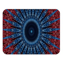 Digital Circle Ornament Computer Graphic Double Sided Flano Blanket (Large)
