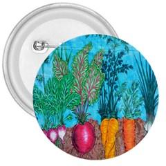 Mural Displaying Array Of Garden Vegetables 3  Buttons