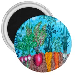 Mural Displaying Array Of Garden Vegetables 3  Magnets