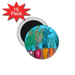 Mural Displaying Array Of Garden Vegetables 1 75  Magnets (10 Pack)