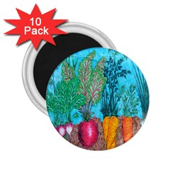 Mural Displaying Array Of Garden Vegetables 2.25  Magnets (10 pack)