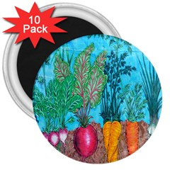 Mural Displaying Array Of Garden Vegetables 3  Magnets (10 pack)