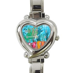 Mural Displaying Array Of Garden Vegetables Heart Italian Charm Watch