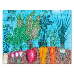 Mural Displaying Array Of Garden Vegetables Rectangular Jigsaw Puzzl