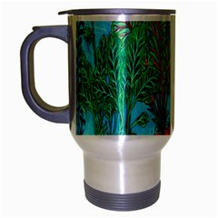 Mural Displaying Array Of Garden Vegetables Travel Mug (Silver Gray)