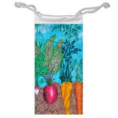 Mural Displaying Array Of Garden Vegetables Jewelry Bag