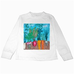 Mural Displaying Array Of Garden Vegetables Kids Long Sleeve T Shirts