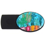 Mural Displaying Array Of Garden Vegetables USB Flash Drive Oval (4 GB) Front