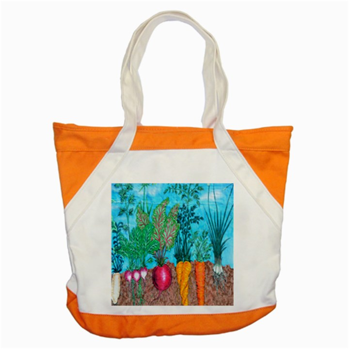 Mural Displaying Array Of Garden Vegetables Accent Tote Bag