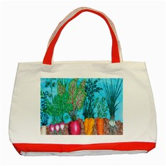 Mural Displaying Array Of Garden Vegetables Classic Tote Bag (red)