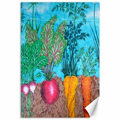 Mural Displaying Array Of Garden Vegetables Canvas 12  X 18