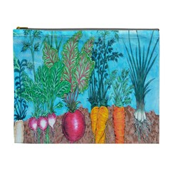 Mural Displaying Array Of Garden Vegetables Cosmetic Bag (XL)