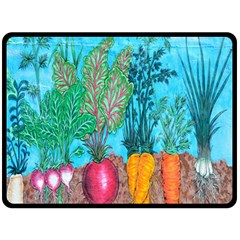 Mural Displaying Array Of Garden Vegetables Fleece Blanket (large)
