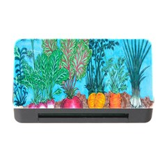 Mural Displaying Array Of Garden Vegetables Memory Card Reader with CF
