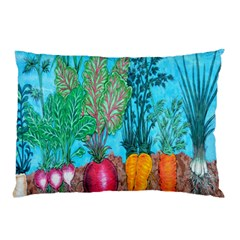 Mural Displaying Array Of Garden Vegetables Pillow Case (two Sides)