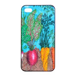 Mural Displaying Array Of Garden Vegetables Apple iPhone 4/4s Seamless Case (Black)