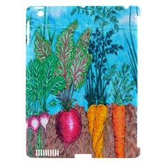 Mural Displaying Array Of Garden Vegetables Apple iPad 3/4 Hardshell Case (Compatible with Smart Cover)