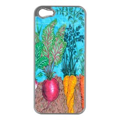 Mural Displaying Array Of Garden Vegetables Apple iPhone 5 Case (Silver)