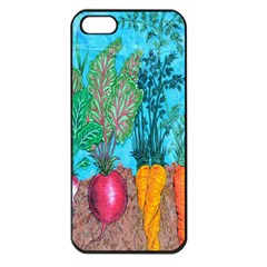 Mural Displaying Array Of Garden Vegetables Apple iPhone 5 Seamless Case (Black)