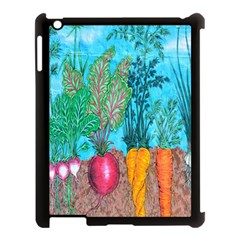 Mural Displaying Array Of Garden Vegetables Apple iPad 3/4 Case (Black)