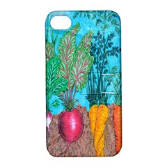 Mural Displaying Array Of Garden Vegetables Apple iPhone 4/4S Hardshell Case with Stand