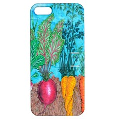 Mural Displaying Array Of Garden Vegetables Apple iPhone 5 Hardshell Case with Stand