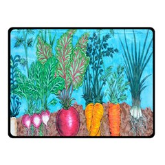 Mural Displaying Array Of Garden Vegetables Double Sided Fleece Blanket (Small)