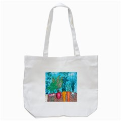 Mural Displaying Array Of Garden Vegetables Tote Bag (White)