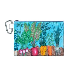 Mural Displaying Array Of Garden Vegetables Canvas Cosmetic Bag (M)