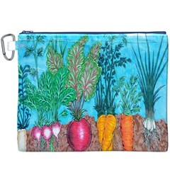 Mural Displaying Array Of Garden Vegetables Canvas Cosmetic Bag (XXXL)