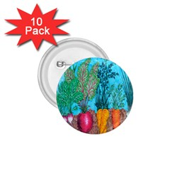 Mural Displaying Array Of Garden Vegetables 1.75  Buttons (10 pack)