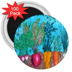 Mural Displaying Array Of Garden Vegetables 3  Magnets (100 Pack)