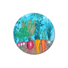 Mural Displaying Array Of Garden Vegetables Magnet 3  (Round)