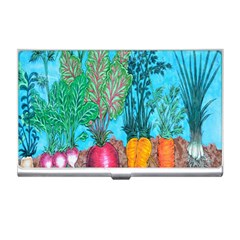 Mural Displaying Array Of Garden Vegetables Business Card Holders