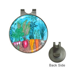 Mural Displaying Array Of Garden Vegetables Hat Clips with Golf Markers